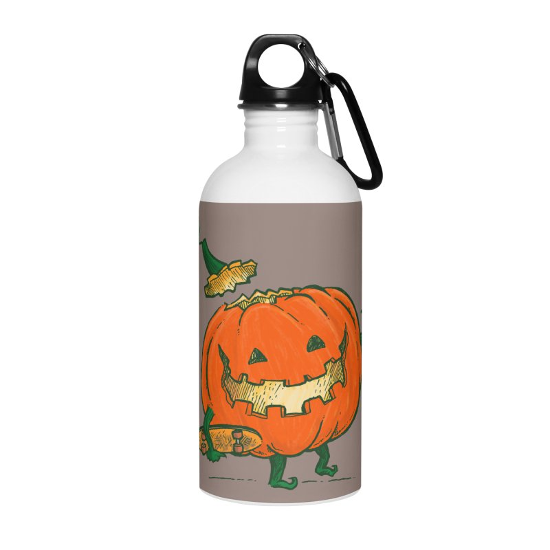 Skatedeck Pumpkin Accessories Water Bottle by nickv47