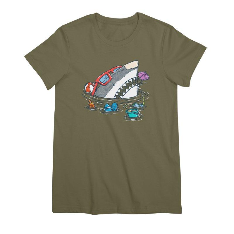 Beach Party Shark Women's Premium T-Shirt by nickv47