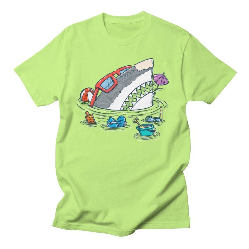 Beach Party Shark Men's T-Shirt by nickv47