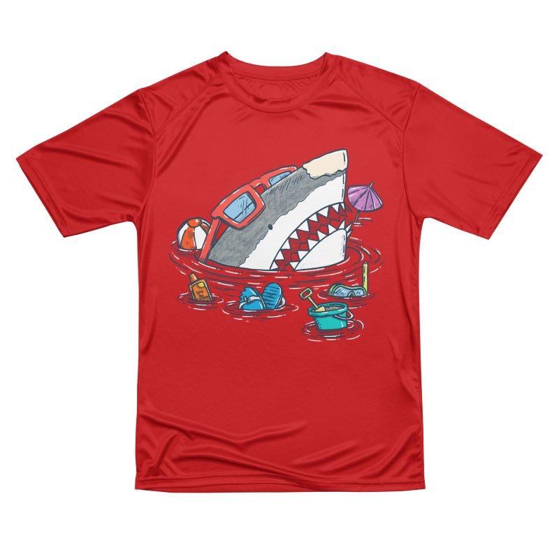 Beach Party Shark Women's Performance Unisex T-Shirt by nickv47