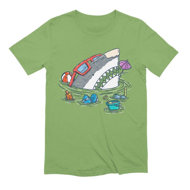 Beach Party Shark Men's Extra Soft T-Shirt by nickv47