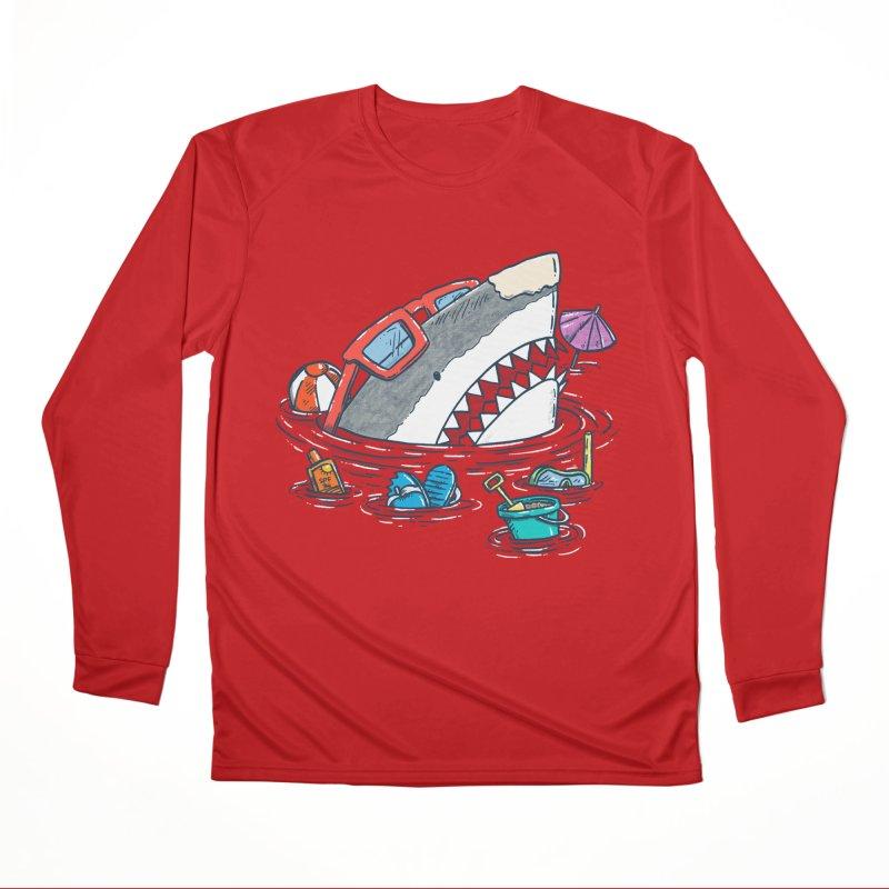 Beach Party Shark Women's Performance Unisex Longsleeve T-Shirt by nickv47