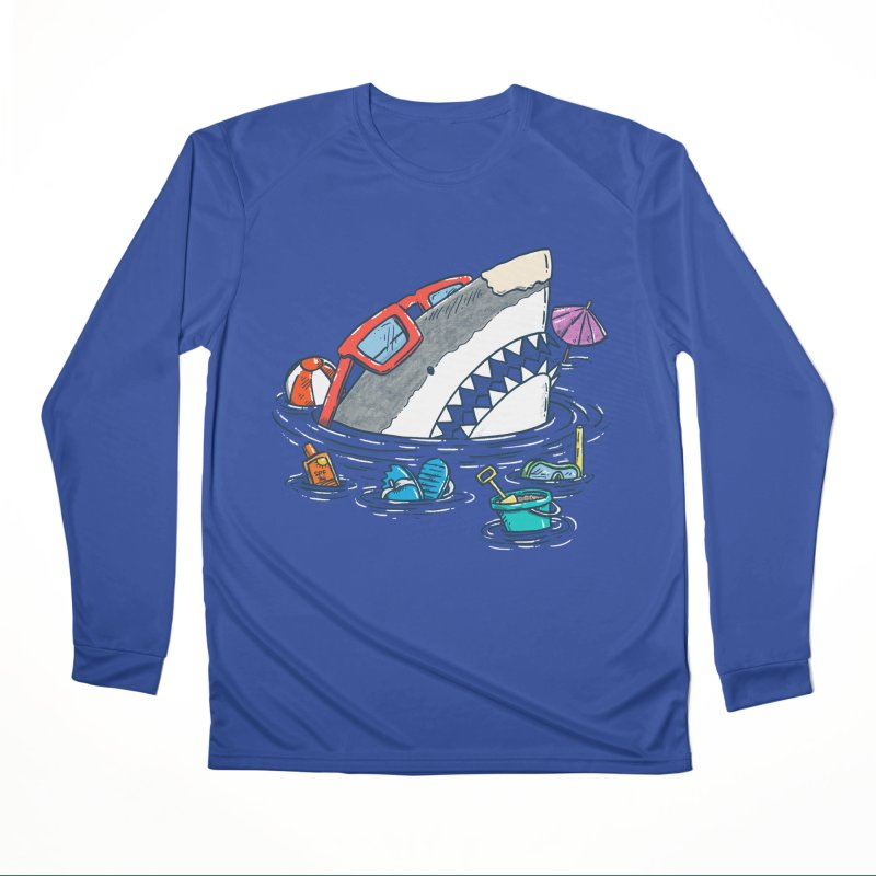 Beach Party Shark Women's Performance Unisex Longsleeve T-Shirt by nickv47