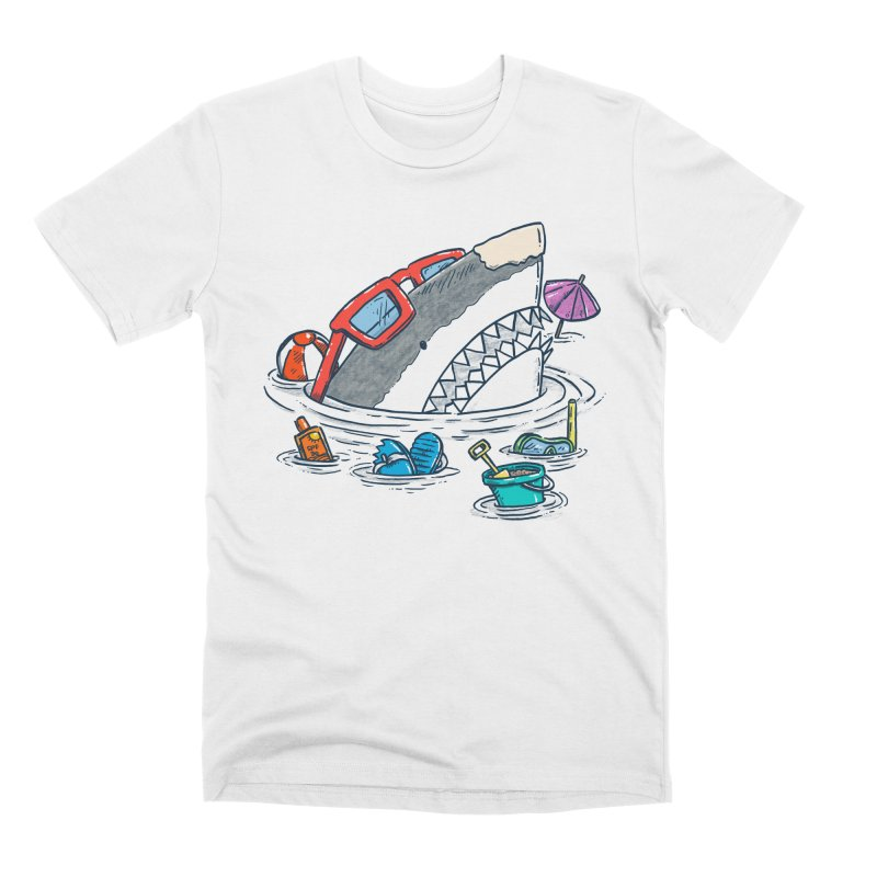 Beach Party Shark Men's Premium T-Shirt by nickv47
