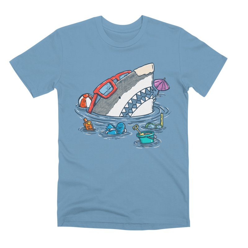 Beach Party Shark Men's Premium T-Shirt by nickv47