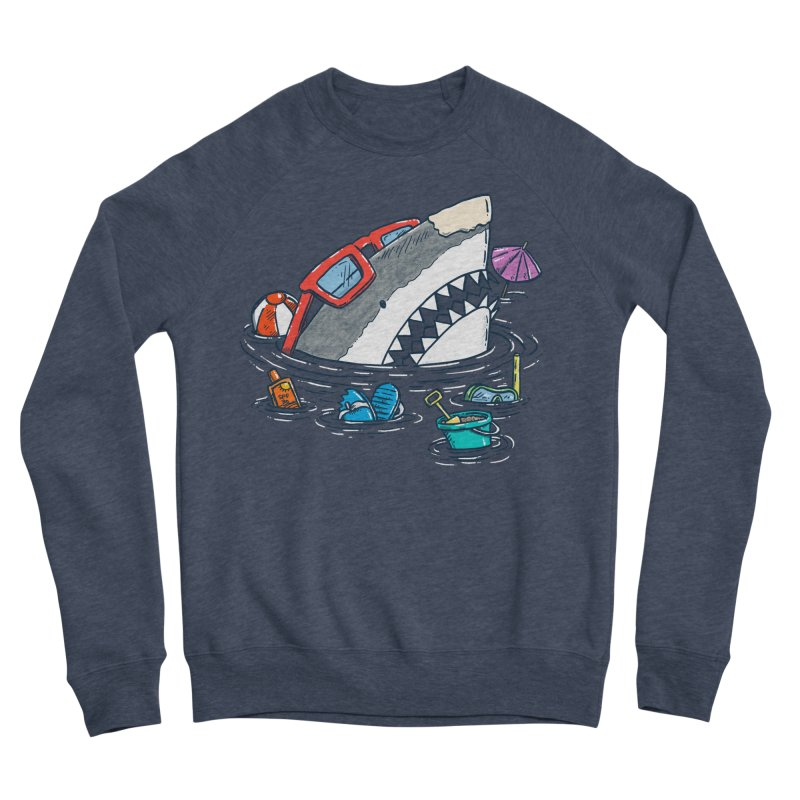 Beach Party Shark Men's Sponge Fleece Sweatshirt by nickv47