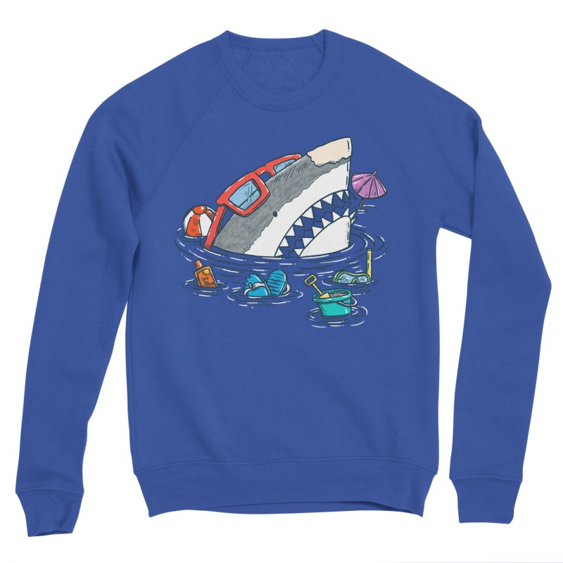 Beach Party Shark Women's Sponge Fleece Sweatshirt by nickv47