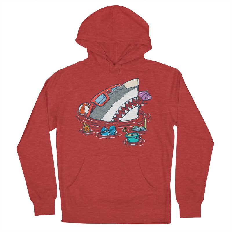 Beach Party Shark Women's French Terry Pullover Hoody by nickv47