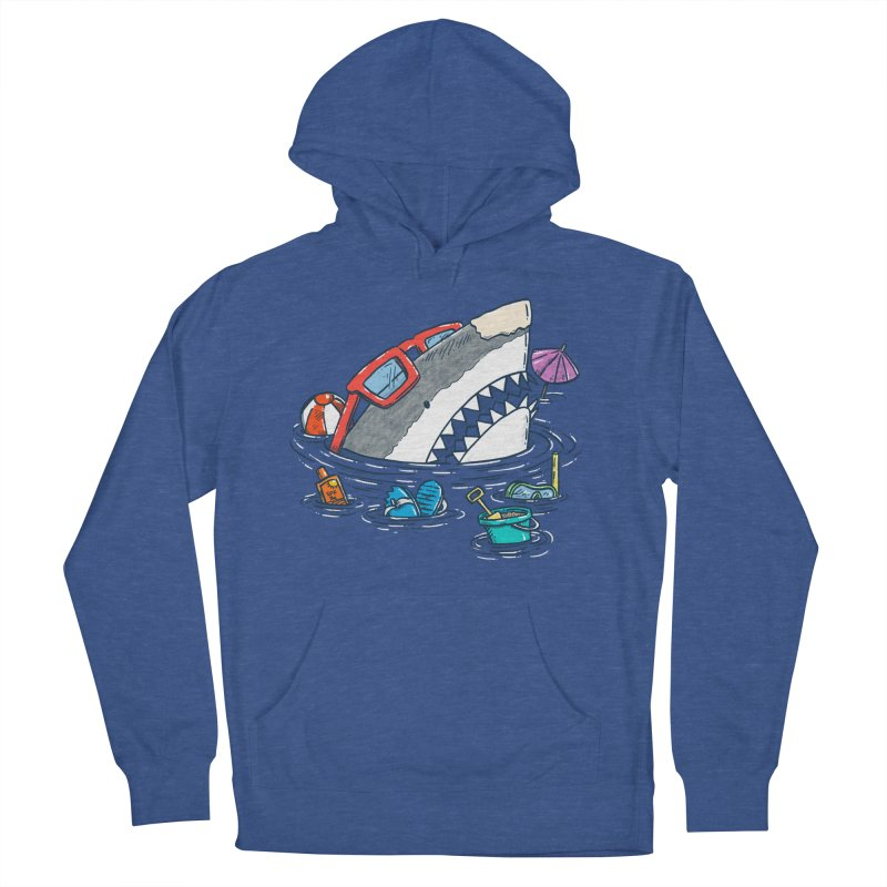 Beach Party Shark Men's French Terry Pullover Hoody by nickv47