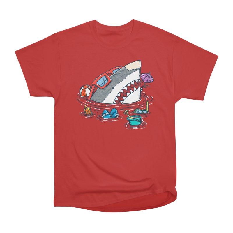 Beach Party Shark Women's Heavyweight Unisex T-Shirt by nickv47