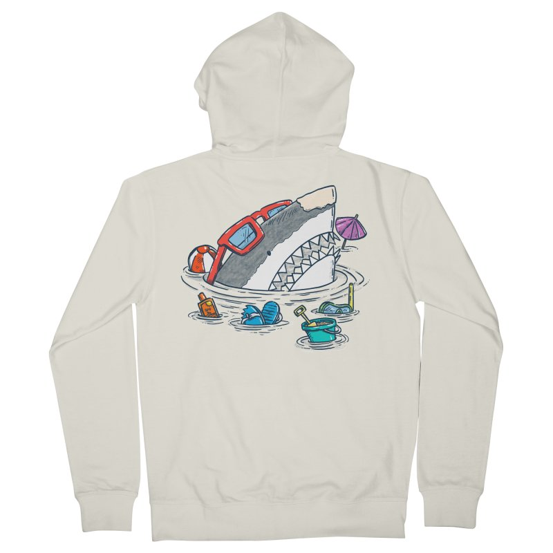 Beach Party Shark Women's French Terry Zip-Up Hoody by nickv47