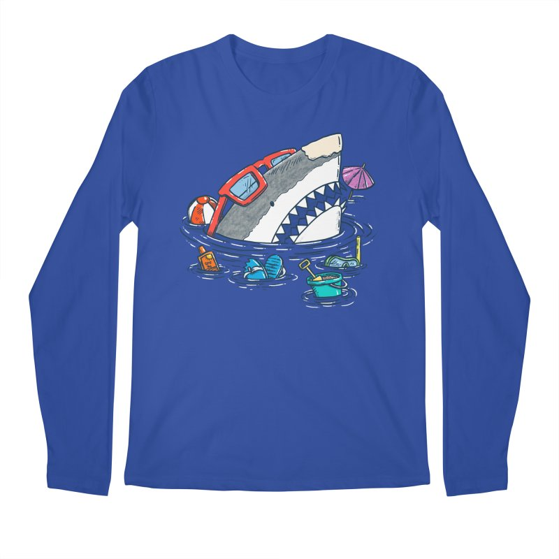Beach Party Shark Men's Regular Longsleeve T-Shirt by nickv47