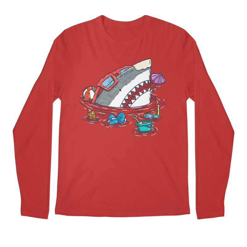 Beach Party Shark Men's Regular Longsleeve T-Shirt by nickv47