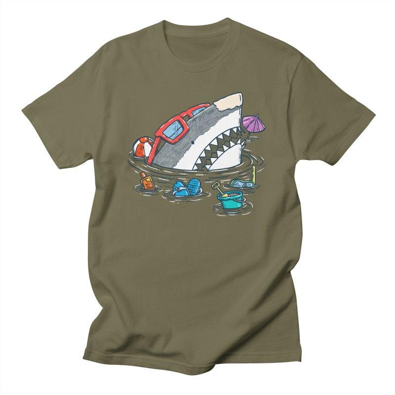 Beach Party Shark Women's Regular Unisex T-Shirt by nickv47