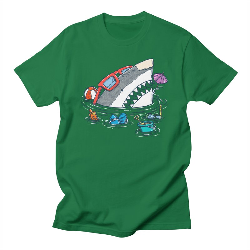 Beach Party Shark Men's T-Shirt by nickv47