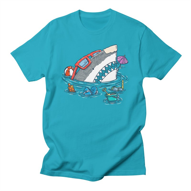 Beach Party Shark Men's Regular T-Shirt by nickv47