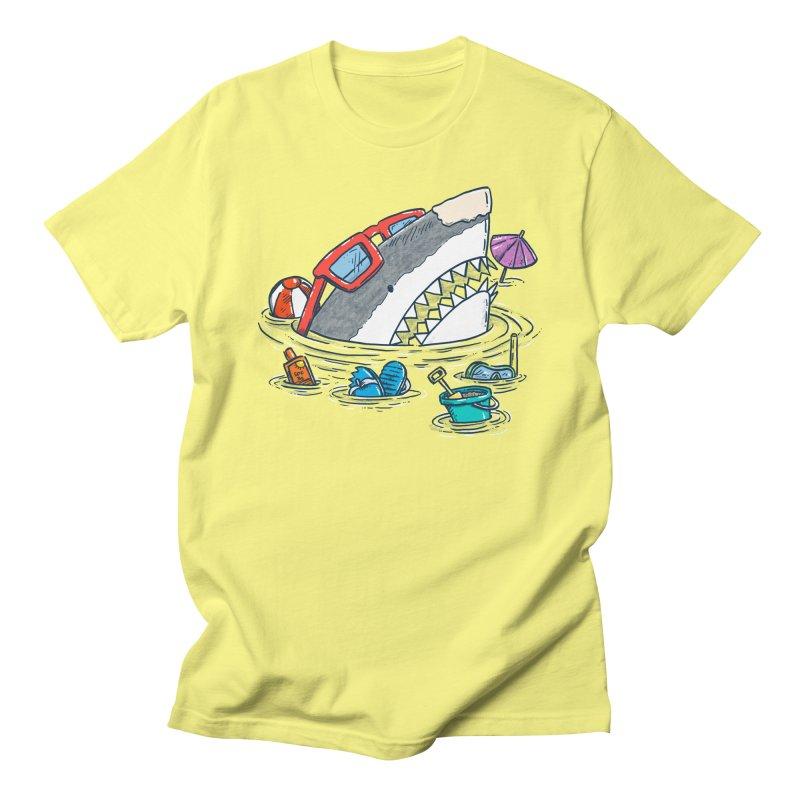 Beach Party Shark Men's Regular T-Shirt by nickv47