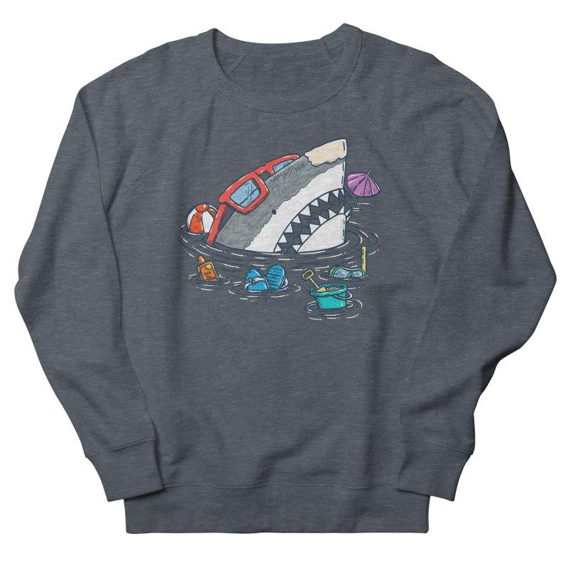 Beach Party Shark Women's French Terry Sweatshirt by nickv47