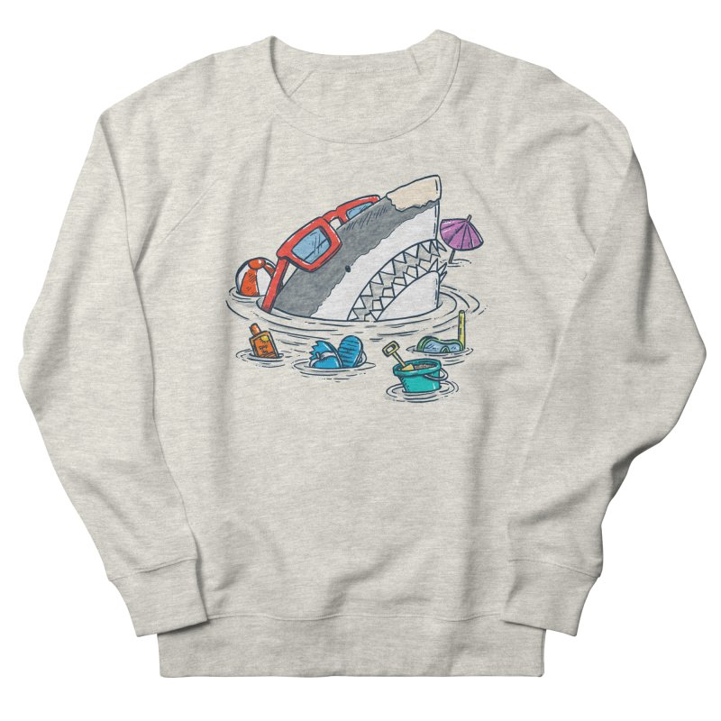 Beach Party Shark Women's French Terry Sweatshirt by nickv47