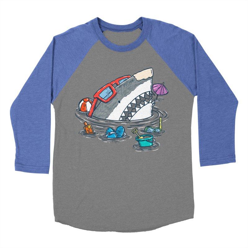 Beach Party Shark Women's Baseball Triblend Longsleeve T-Shirt by nickv47