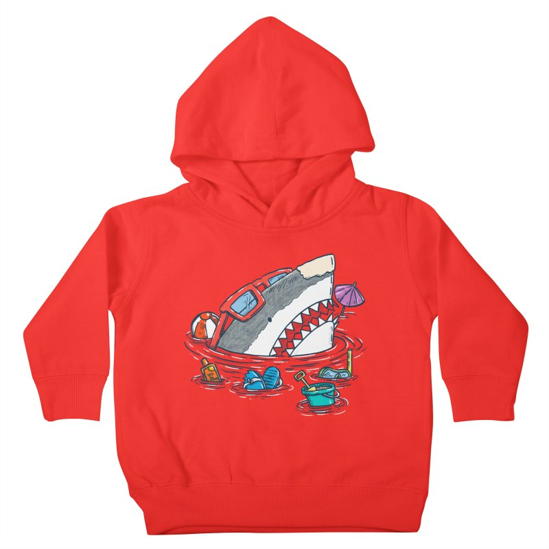 Beach Party Shark Kids Toddler Pullover Hoody by nickv47