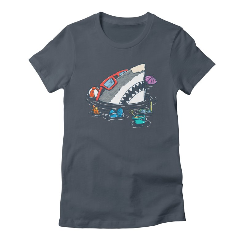 Beach Party Shark Women's T-Shirt by nickv47