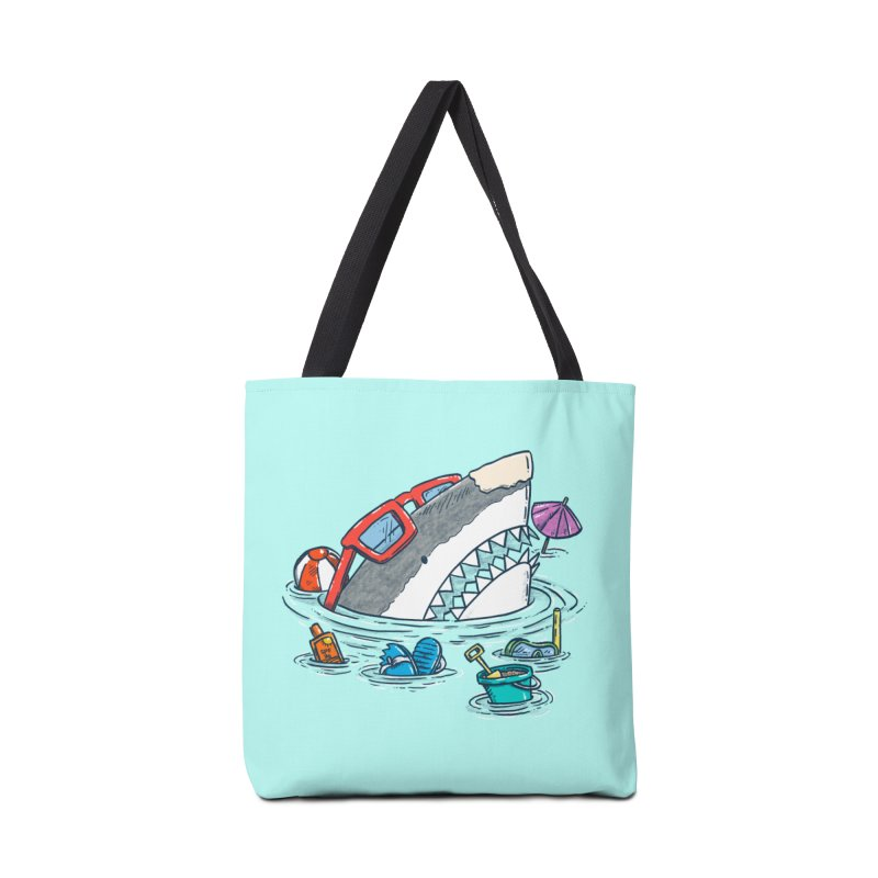 Beach Party Shark Accessories Tote Bag Bag by nickv47