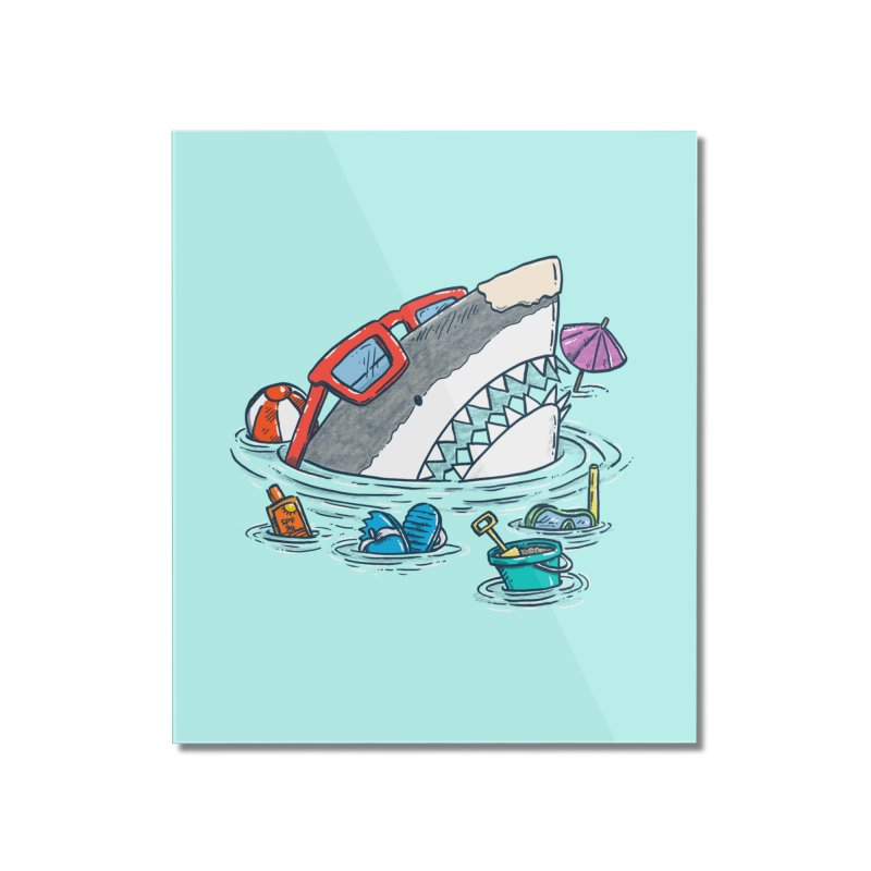 Beach Party Shark Home Mounted Acrylic Print by nickv47