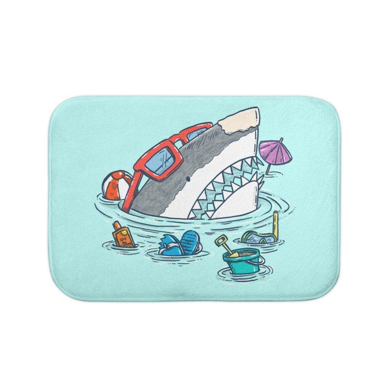 Beach Party Shark Home Bath Mat by nickv47