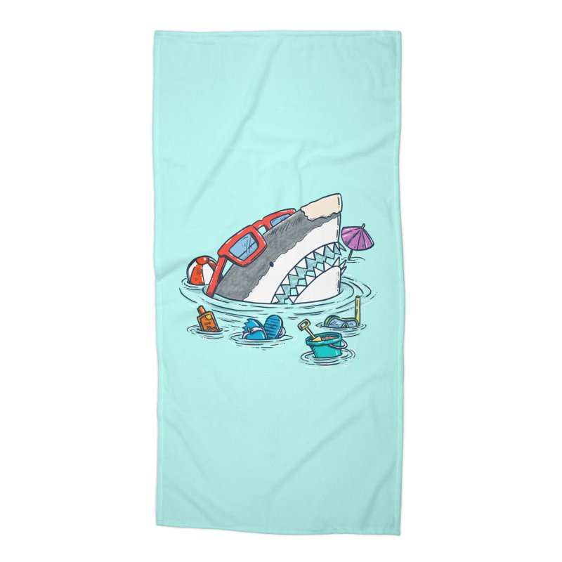 Beach Party Shark Accessories Beach Towel by nickv47