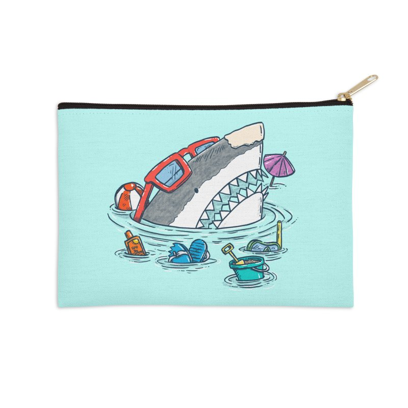 Beach Party Shark Accessories Zip Pouch by nickv47