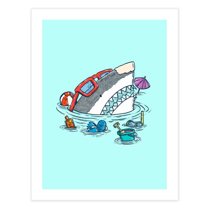 Beach Party Shark Home Fine Art Print by nickv47