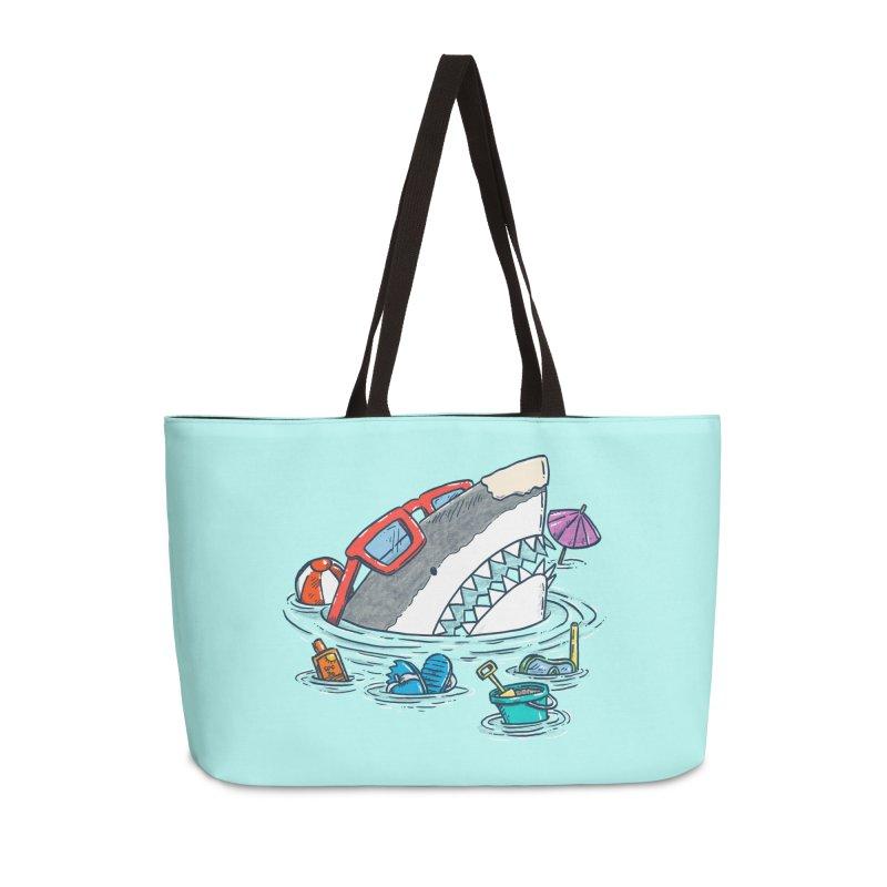 Beach Party Shark Accessories Weekender Bag Bag by nickv47