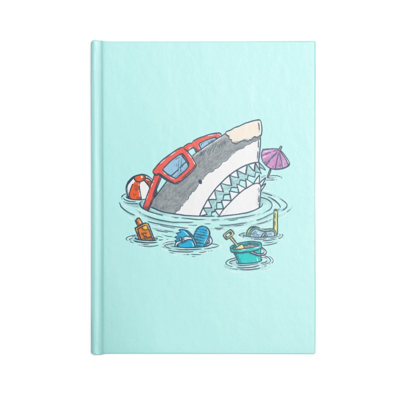 Beach Party Shark Accessories Blank Journal Notebook by nickv47