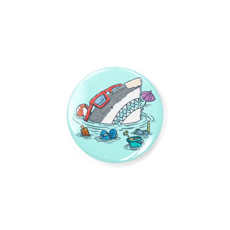 Beach Party Shark Accessories Button by nickv47