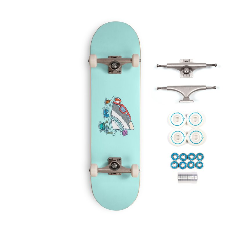 Beach Party Shark Accessories Complete - Basic Skateboard by nickv47