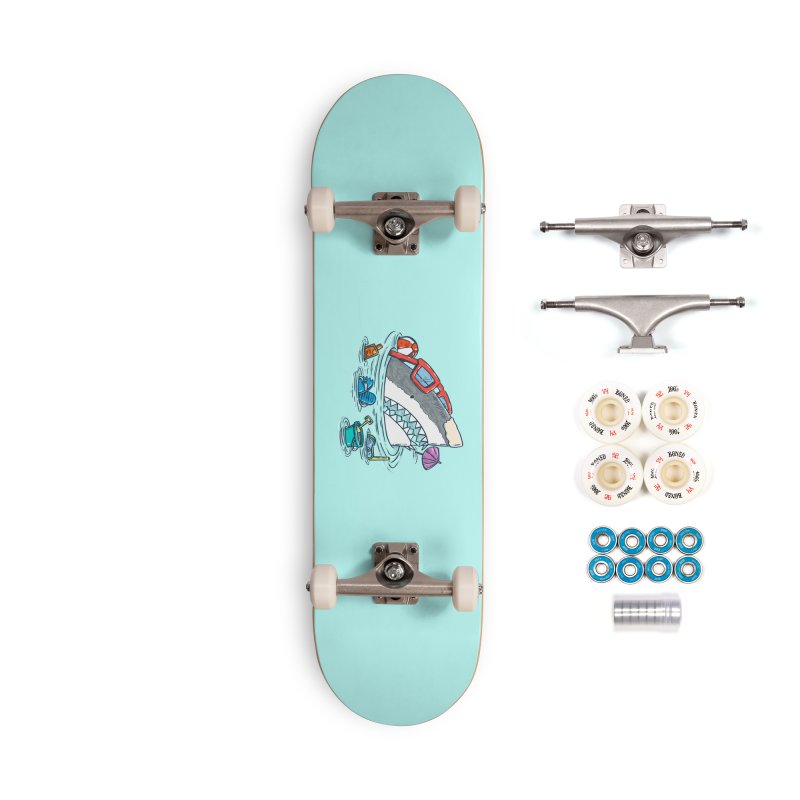 Beach Party Shark Accessories Complete - Premium Skateboard by nickv47