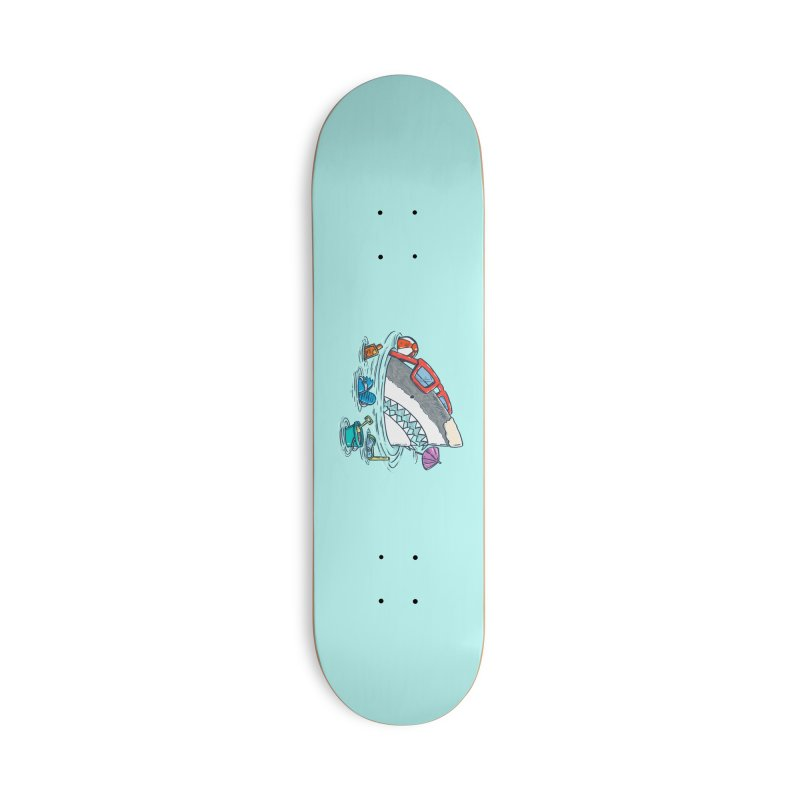 Beach Party Shark Accessories Deck Only Skateboard by nickv47