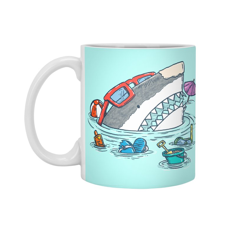 Beach Party Shark Accessories Standard Mug by nickv47
