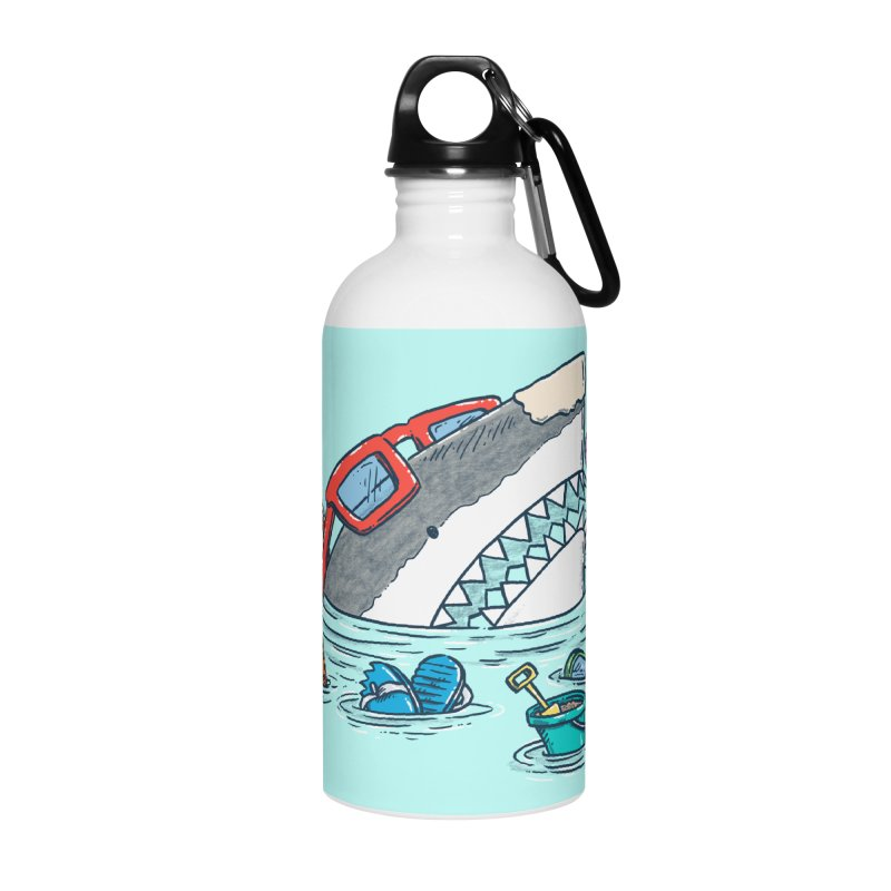 Beach Party Shark Accessories Water Bottle by nickv47