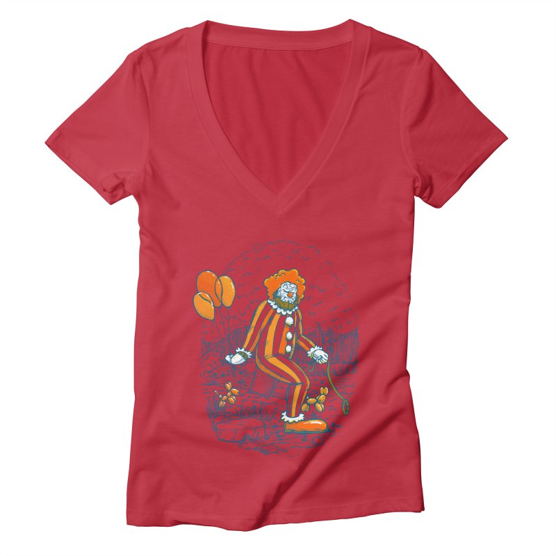 Clownfoot Women's Deep V-Neck V-Neck by nickv47