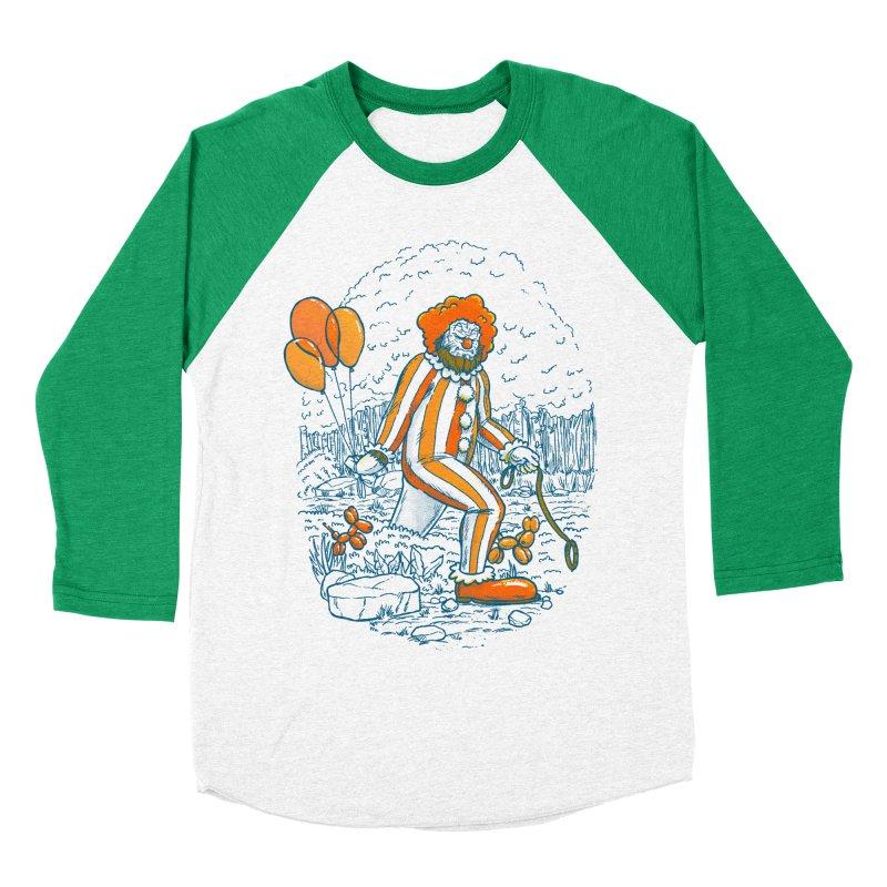 Clownfoot Men's Baseball Triblend Longsleeve T-Shirt by nickv47