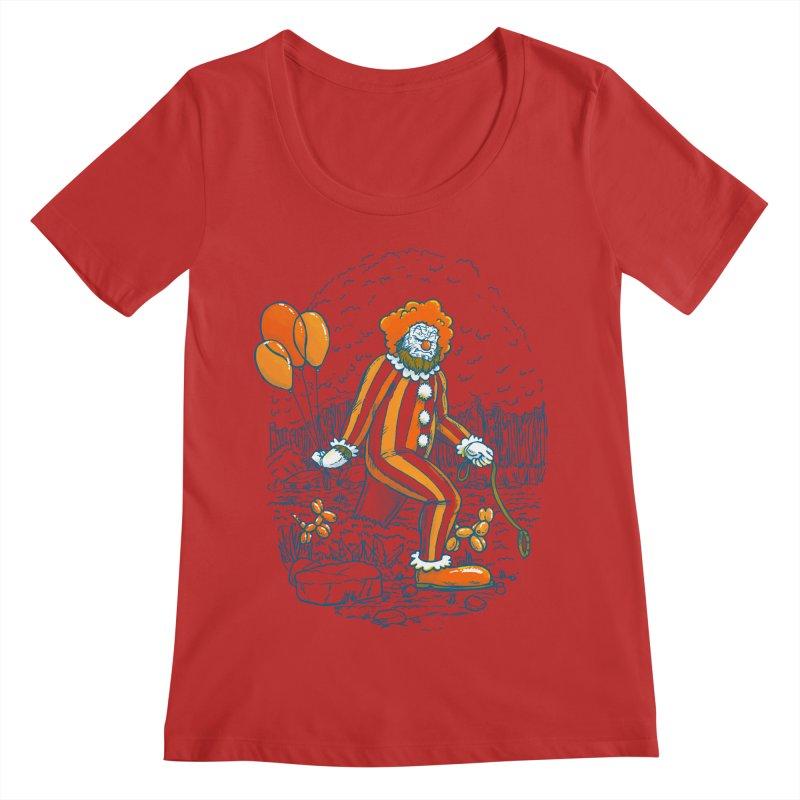 Clownfoot Women's Regular Scoop Neck by nickv47