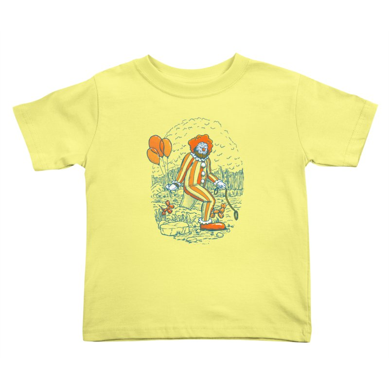Clownfoot Kids Toddler T-Shirt by nickv47