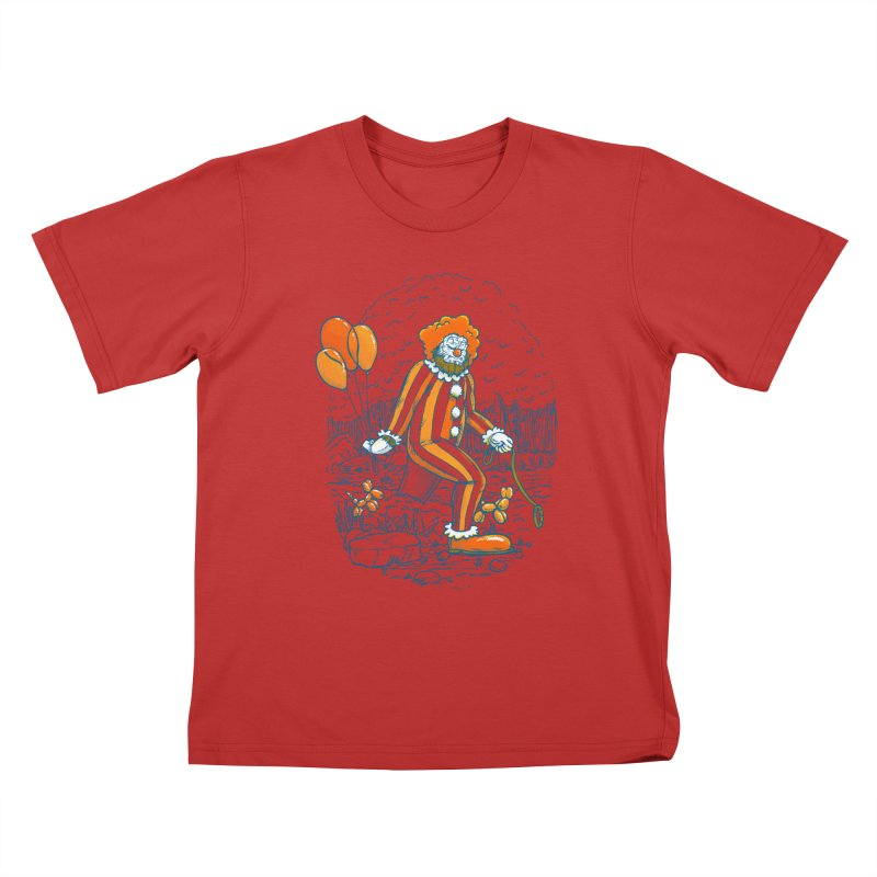 Clownfoot Kids T-Shirt by nickv47