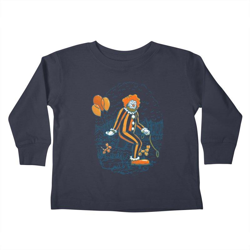 Clownfoot Kids Toddler Longsleeve T-Shirt by nickv47