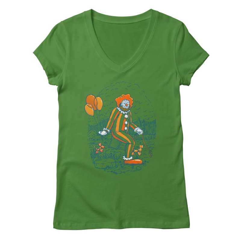 Clownfoot Women's Regular V-Neck by nickv47