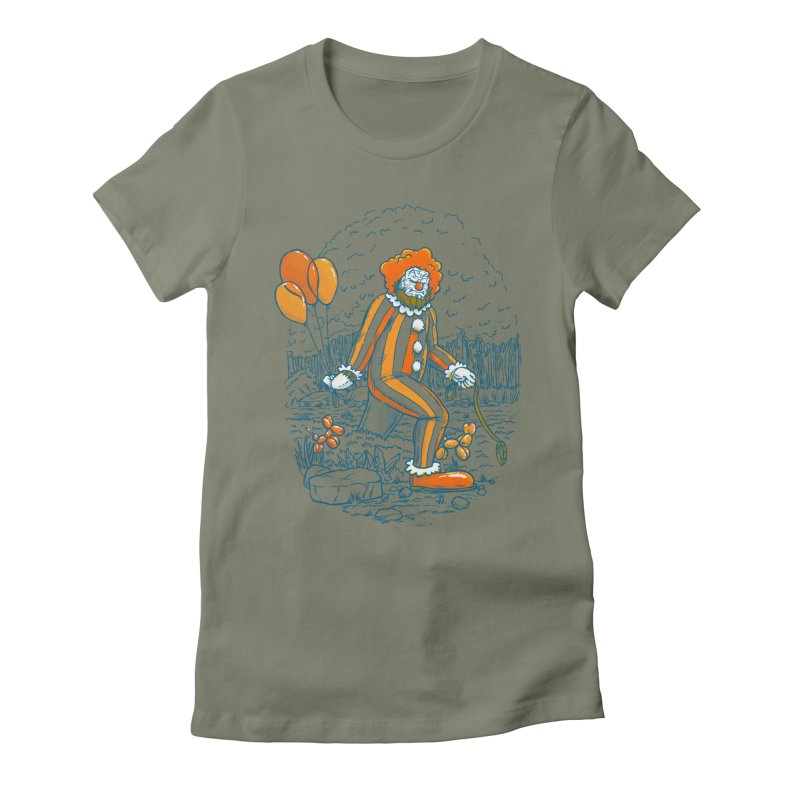 Clownfoot Women's Fitted T-Shirt by nickv47