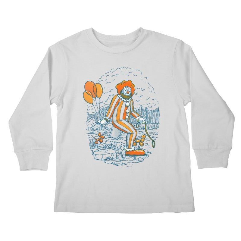 Clownfoot Kids Longsleeve T-Shirt by nickv47