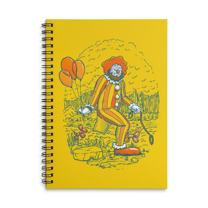 Clownfoot Accessories Lined Spiral Notebook by nickv47